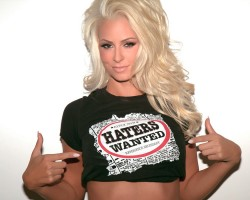 "Maryse Ouellet - Hot in a ""Haters Wanted"" T-Shirt"