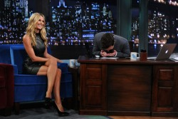 Heidi Klum - visits Late Night with Jimmy Fallon in NYC 9/4/13