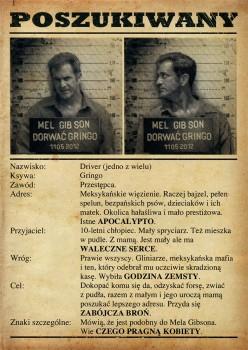 Tył ulotki filmu 'Dorwać Gringo'