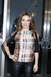 Alyssa Milano - leaving FOX & Friends studios in NY 9/4/13