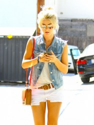 Julianne Hough - Going to a hair salon in West Hollywood 9/5/13