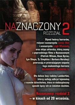 Tył ulotki filmu 'Naznaczony: Rozdział 2'