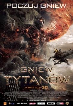 Polski plakat filmu 'Gniew Tytanów'
