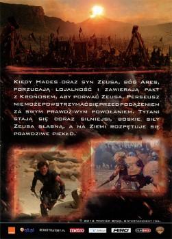 Tył ulotki filmu 'Gniew Tytanów'