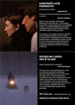 Tył ulotki filmu 'Samotność Liczb Pierwszych'
