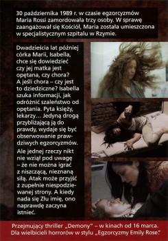 Tył ulotki filmu 'Demony'