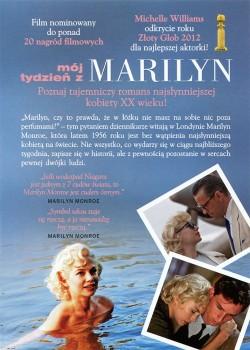 Tył ulotki filmu 'Mój Tydzień Z Marilyn'