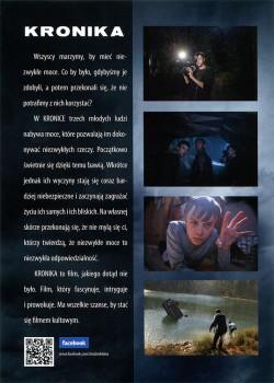 Tył ulotki filmu 'Kronika'