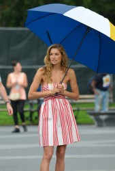 Jessica Hart - on a photoshoot in NYC 9/13/13