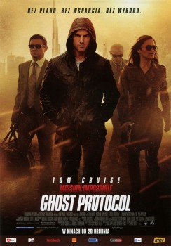 Przód ulotki filmu 'Mission: Impossible - Ghost Protocol'