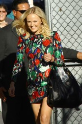 Malin Akerman - arrives at Jimmy Kimmel Live in Hollywood 9/16/13