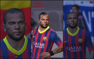download PES 2014 Dani ALVES (v.04) by K0H