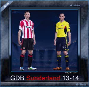 pes 2014 Sunderland A.F.C. 2014 Kit Set by G-Style