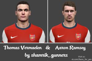 download Aaron Ramsey and Thomas Vermaelen Faces for pes