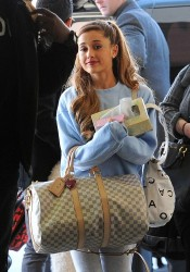 Ariana Grande - at LAX Airport 12/9/13