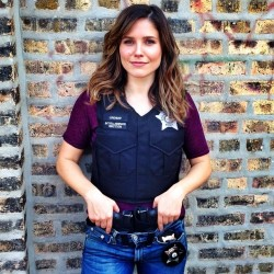 Sophia Bush on the Set of Chicago PD - November 2013
