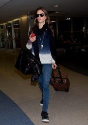 Alessandra Ambrosio - at LAX Airport 12/8/13