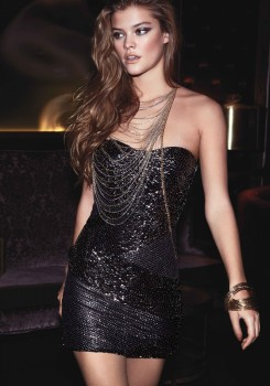 Nina Agdal – BEBE New Years Eve Photoshoot – December