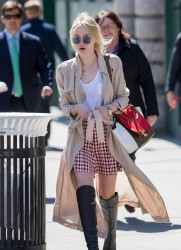 Dakota Fanning - Out & About in NYC 4/2/15
