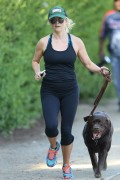 Reese Witherspoon jogging with her dog in Brentwood April 12-2015 x37