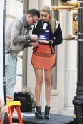 Gigi Hadid - On set of a photoshoot in NYC 4/21/15