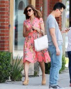 Eva Mendes Was seen gorgeously emerging from a hair appointment in Los Angeles April 29-2015 x34
