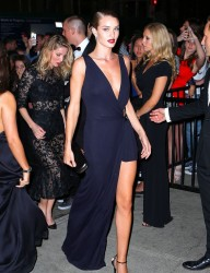 Rosie Huntington-Whiteley - Going to the Met Gala After Party in NYC 5/4/15