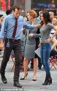 Judith Hoag and Megan Fox- filming TMNT 2-May 11, 2015 (x7)