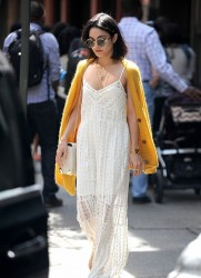 Vanessa Hudgens - Leaving her apartment in NYC 5/24/15