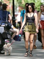 Vanessa Hudgens - Walking her dog in NYC 5/26/15