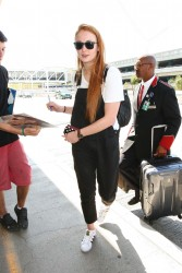 Sophie Turner - LAX airport - May 28 201