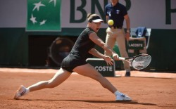 Simona Halep at the 2015 French Open x3
