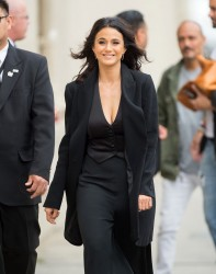Emmanuelle Chriqui - Arriving to a taping of 'Jimmy Kimmel Live' 6/04/15