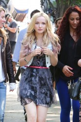 Dove Cameron on the set of a Shawn Mendes video in Toronto on 6-04-2015 x7