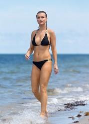 Joanna Krupa - Bikini Candids in Miami 6/8/15