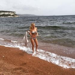 AJ Michalka - Bikini Twitpic 6/13/15