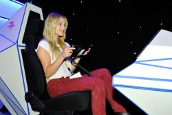 Olivia Holt - Nintendo at 2015 E3 Gaming Convention 6/16/15