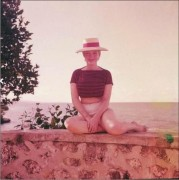 Marilyn Monroe on the beach in the Hamptons in 1957