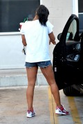 Christina Milian - Short Shorts Outside A Starbucks in LA (7/02/15)