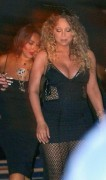 Mariah Carey - Major Cleavage In A LBD Out in Ibiza (7/2/15)