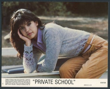 Phoebe Cates: Cute Lobby Card From 'Private School' HQ x 1