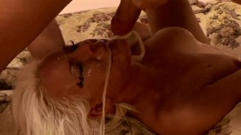 Rough deep throat and gag
