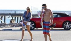 Charlotte McKinney - At the beach in Malibu 9/29/15