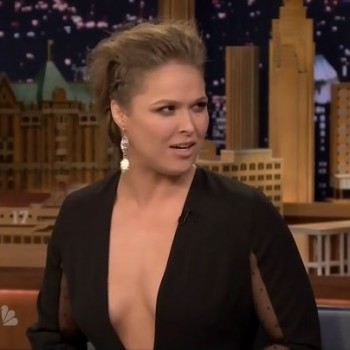 "Ronda Rousey Jimmy Fallon"" NYC Oct 6th 2015."