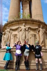 AliceInBondageLand - Daisy Ducati,  Mistress Denali Winter - Rubber Sissy FemDom Group Outting San Francisco (Palace of Fine Arts )