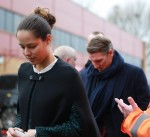 Ana Ivanovic and Bastian Schweinsteiger arrive at Old Trafford in Manchester December 19-2015 x10