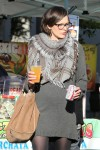 Milla Jovovich Enjoyed a Sunday at the Melrose Place Farmers Market in West Hollywood December 20-2015 x28