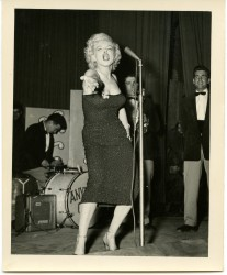 Marilyn Monroe Performing at the Taegu Air Force Base in Korea on February 23, 1954