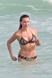 Katie Cassidy - Bikini Candids in Miami 12/23/15