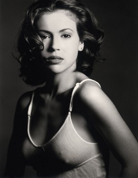 ALYSSA MILANO *tight* B/W portrait - x1